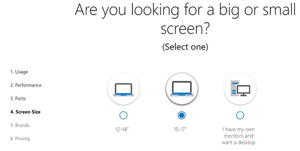Chọn kích cỡ màn hình cho laptop