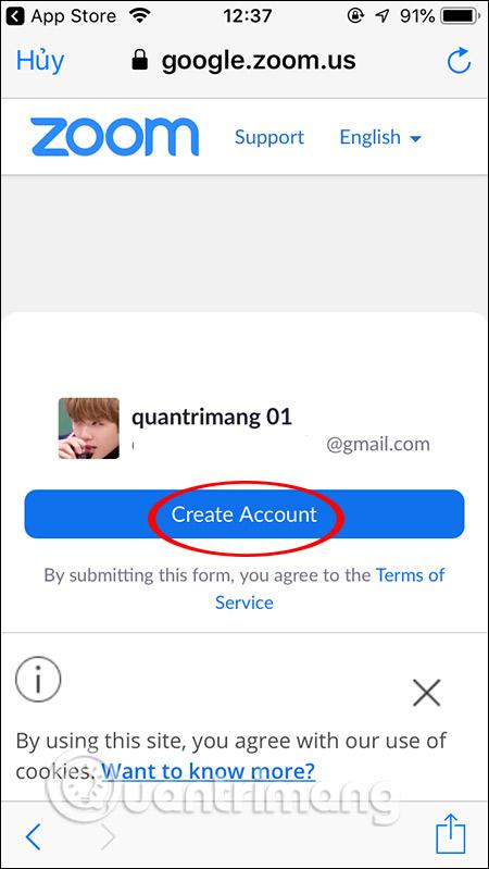 Tạo tài khoản