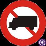 Biển số 106a: Cấm xe tải