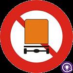 Biển số 106c: Cấm xe chở hàng nguy hiểm