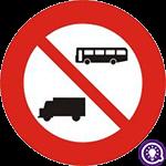 Biển số 107: Cấm ô tô khách và ô tô tải