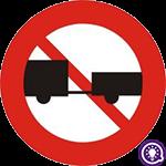 Biển số 108: Cấm ô tô, máy kéo kéo moóc và sơ mi rơ moóc