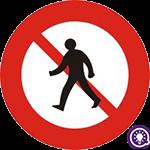 Biển số 112: Cấm người đi bộ