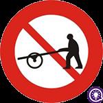 Biển số 113: Cấm xe người kéo, đẩy
