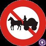 Biển số 114: Cấm xe xúc vật kéo