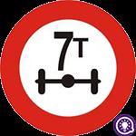 Biển số 116: Hạn chế trọng lượng trên trục xe