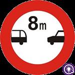 Biển số 121: Cự ly tối thiểu giữa 2 xe