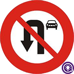 Biển số 124b: Cấm ô tô quay đầu xe