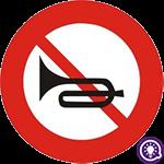 Biển số 128: Cấm sử dụng còi