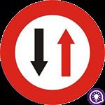 Biển số 132: Nhường đường cho xe cơ giới đi ngược chiều qua đường hẹp