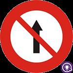 Biển số 136: Cấm đi thẳng