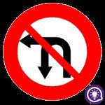 Biển số 124c: Cấm rẽ trái và quay đầu xe