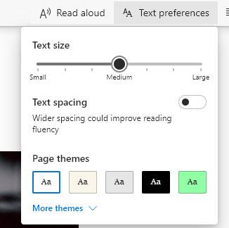 Chỉnh sửa kích thước văn bản bằng công cụ đọc