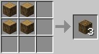 Công thức tạo gỗ Minecraft