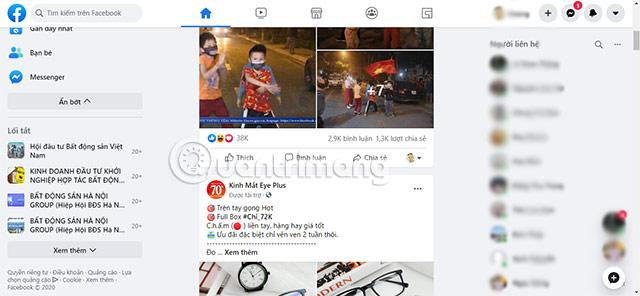cách đổi giao diện mới facebook
