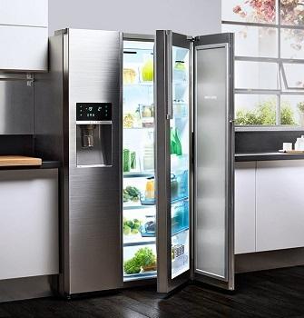 Tủ lạnh Side by Side phù hợp với phòng bếp rộng.