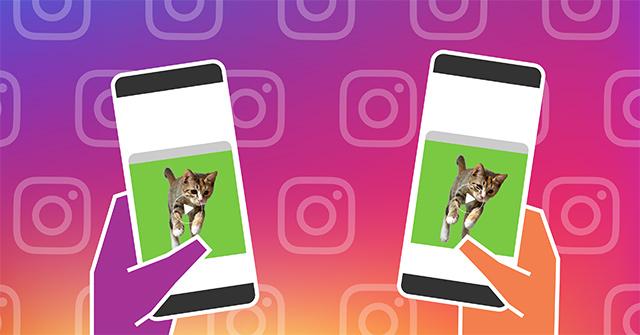 Cách chia sẻ hình ảnh, video khi gọi điện trên Instagram