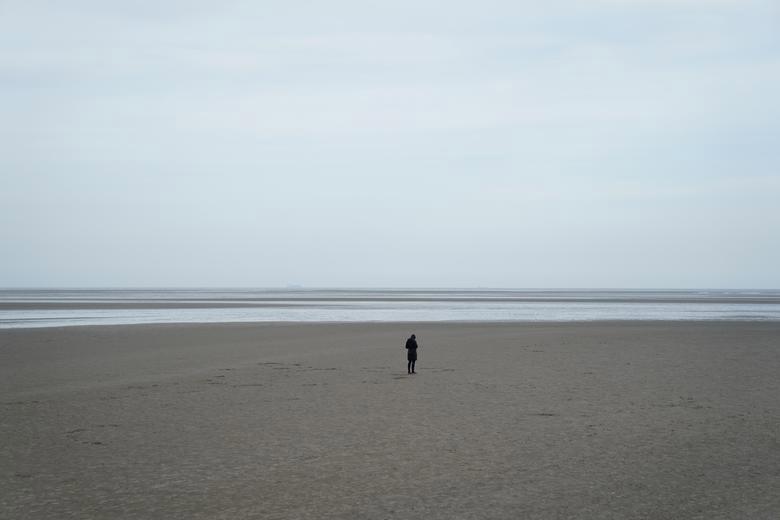 Bức ảnh được chụp vào ngày 23/3, trên bờ biển Sandymount ở Dublin, Ireland