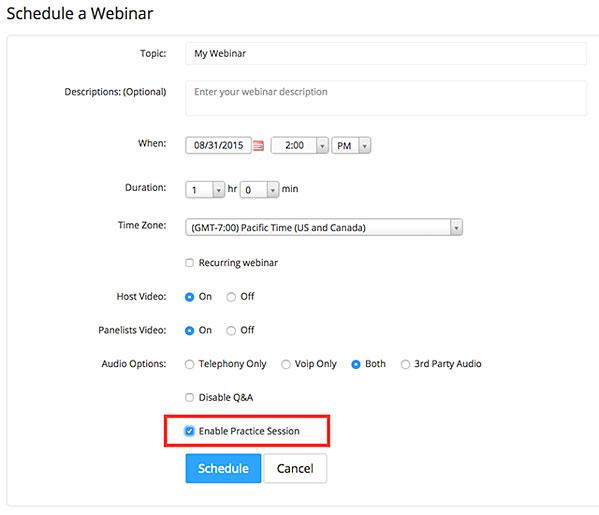 Bạn cũng có thể lưu webinar của mình và sử dụng lại