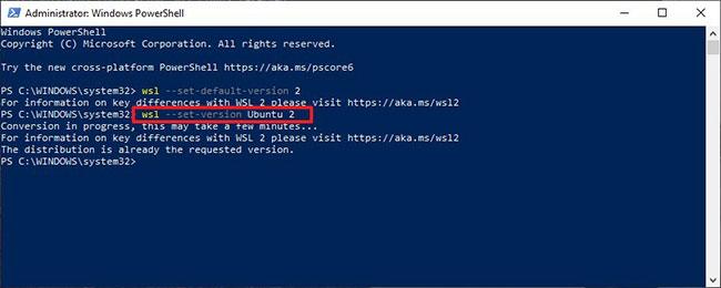 Biến Windows Subsystem for Linux 2 thành kiến trúc mặc định
