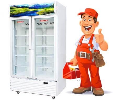 Tủ mát Sanaky không lạnh