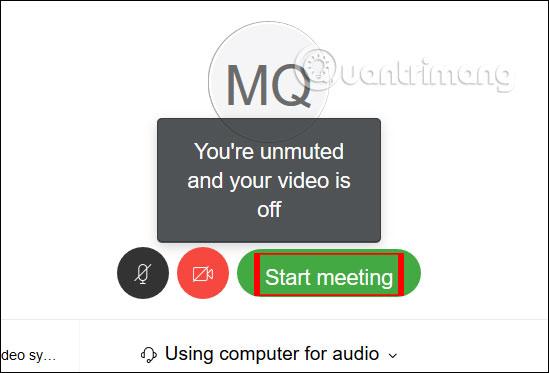 Bắt đầu cuộc họp