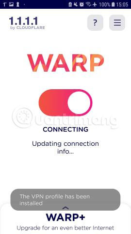 1.1.1.1 đang thiết lập kết nối
