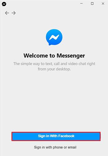 Nhấp vào nút Sign in With Facebook để đăng nhập