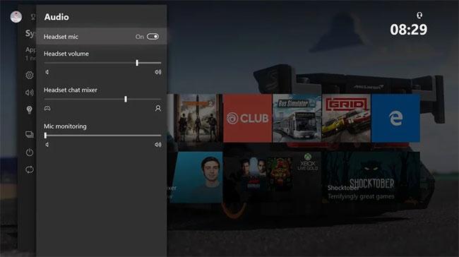 Bạn có thể kiểm soát âm thanh trực tiếp trên console