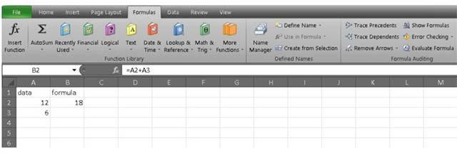Cộng 2 ô trong Excel