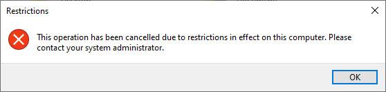 Thông báo lỗi khi có người dùng truy cập không được phép