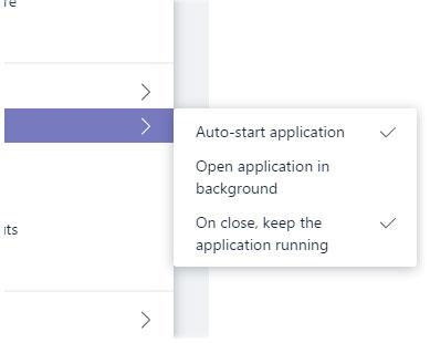 Trong phần Application, hãy xóa tùy chọn On close, keep the application running