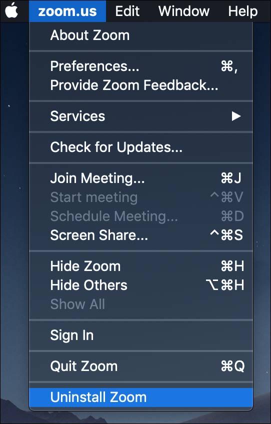 Gỡ Zoom trên Mac