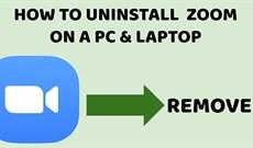 Cách xóa Zoom trên máy tính