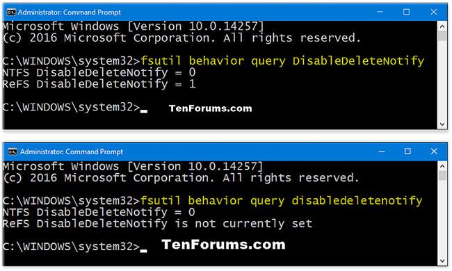 Cách kiểm tra trạng thái hiện tại của hỗ trợ TRIM cho SSD