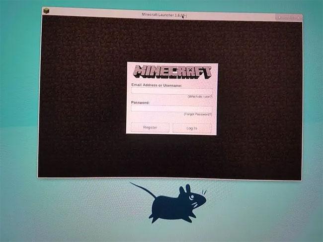 Nhập tên người dùng và mật khẩu Minecraft