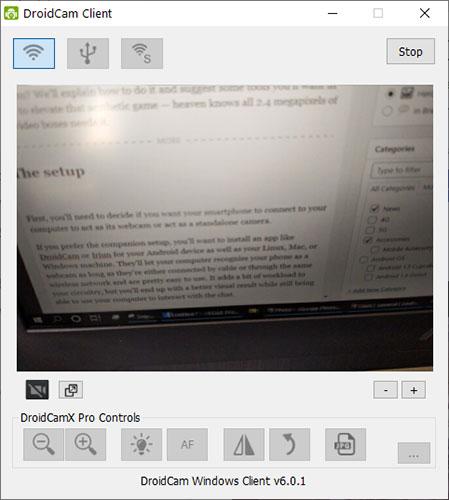 Nếu muốn biến điện thoại thành webcam cho PC, bạn sẽ cần cài đặt một ứng dụng như DroidCam hoặc Iriun