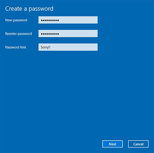 Nhập mật khẩu mới