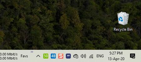 Nút Show Desktop sẽ được ẩn