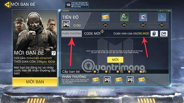 mã chéo cod mobile