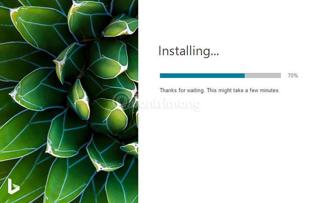 Tiến hành cài đặt Bing Wallpaper