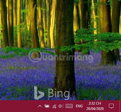 Hình nền đi kèm với logo Bing