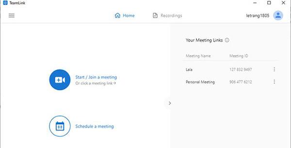 Phần mềm dạy học trực tuyến miễn phí TeamLink