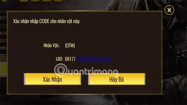 cách nhập code call of duty mobile