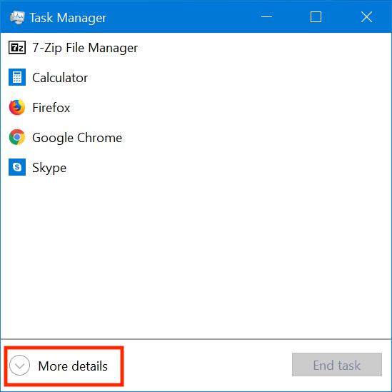 Phiên bản đầy đủ của Task Manager
