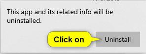 Nhấn vào Uninstall để xác nhận