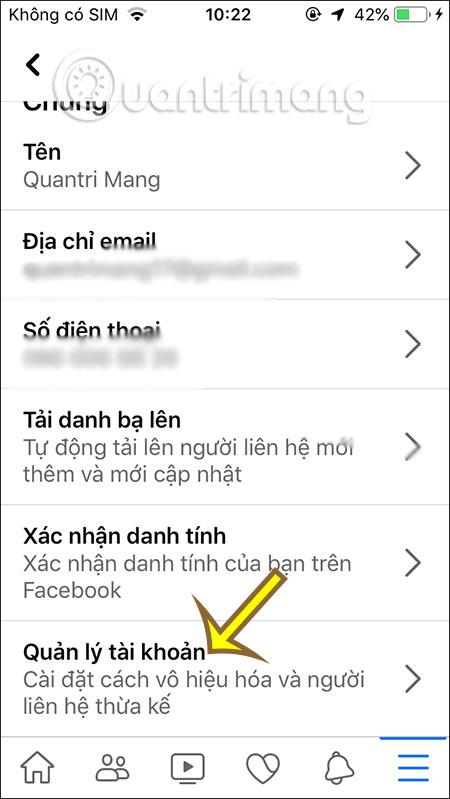 Quản lý tài khoản Facebook