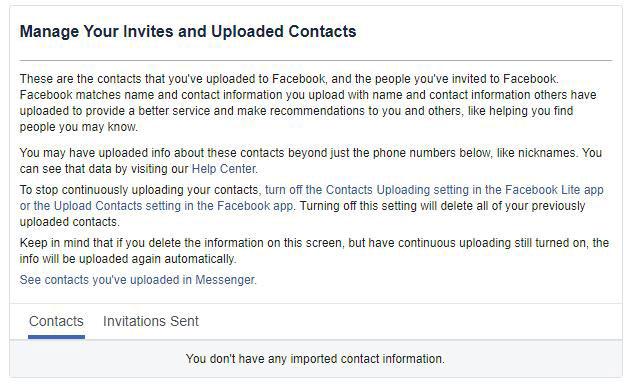 Bạn có thể yêu cầu bạn bè của mình xóa các số liên hệ mà họ đã upload lên Facebook
