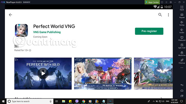 perfect world vng pc