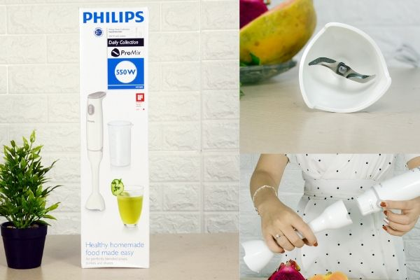 Máy xay thịt cầm tay Philips HR1600